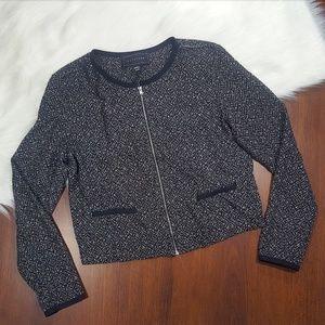 Metaphor | Cropped Zip Sweater Jacket